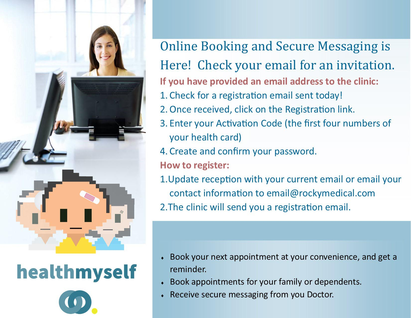 Appointment Booking and Patient Portal Information