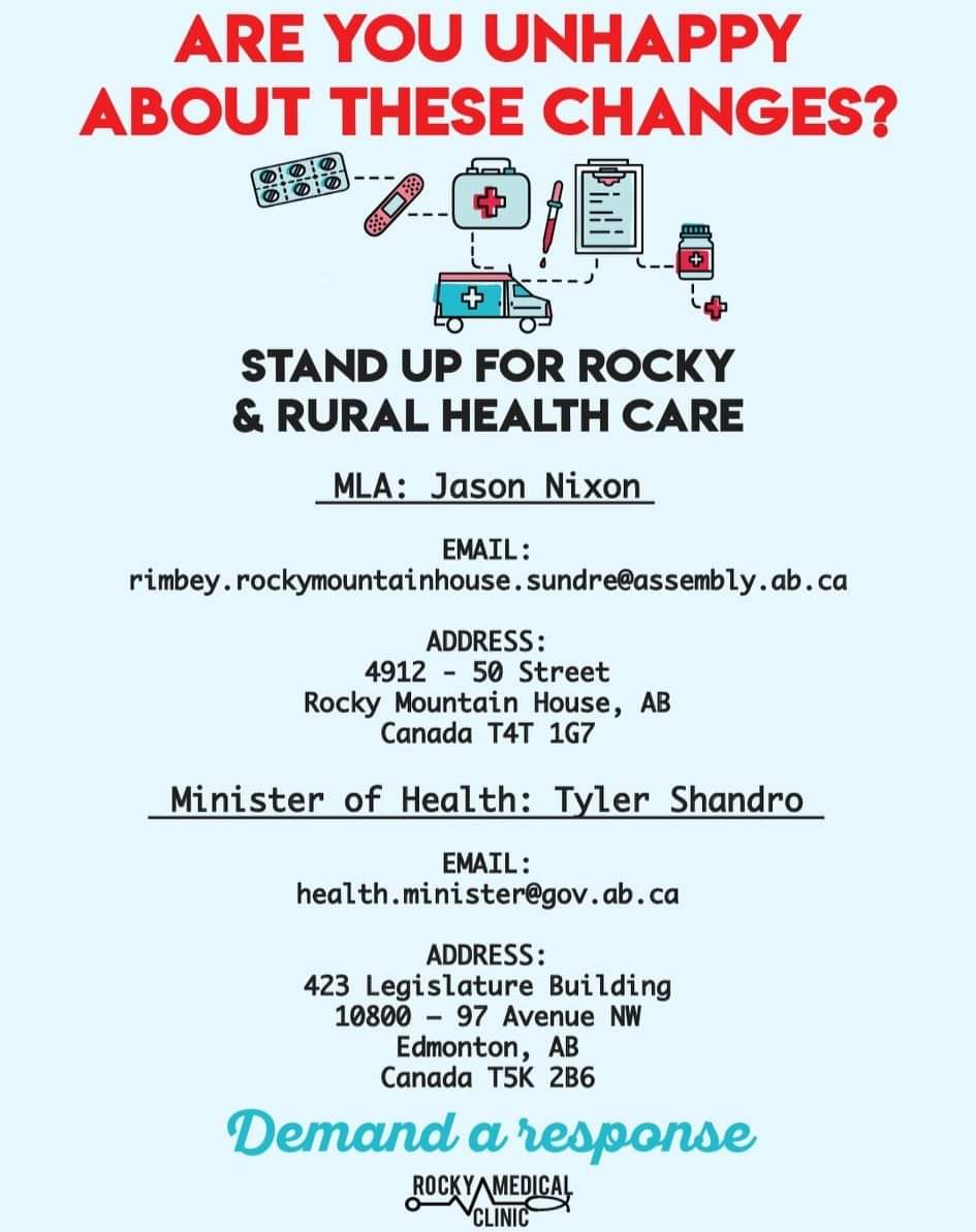 Unhappy with the Alberta government changes to health care? Tell MLA Nixon and Minister of Health Shandro